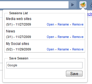 Chrome Session Manager