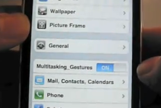 iPhone multitasking gestures