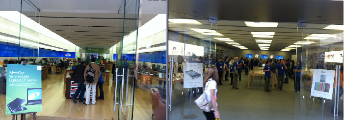 apple store vs microsoft store