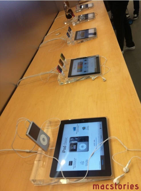 iPad used to promote iPods