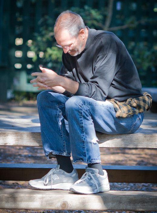 Steve Jobs in a Park