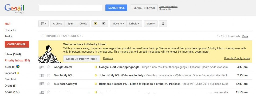 gmail new look