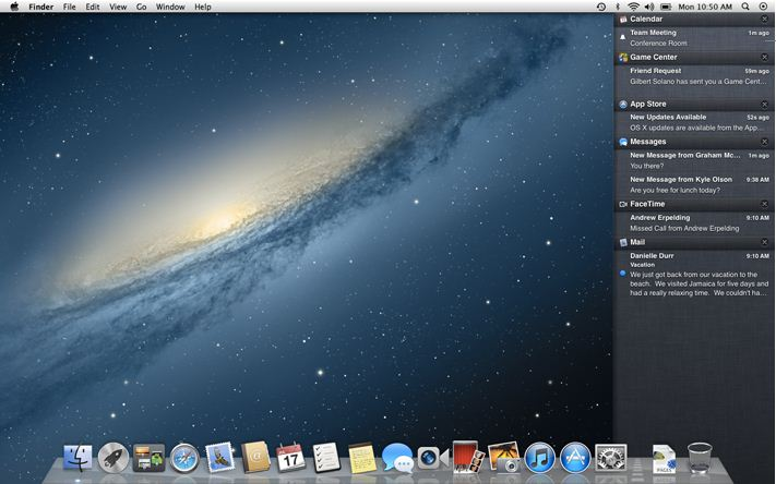 Mac Notification Center
