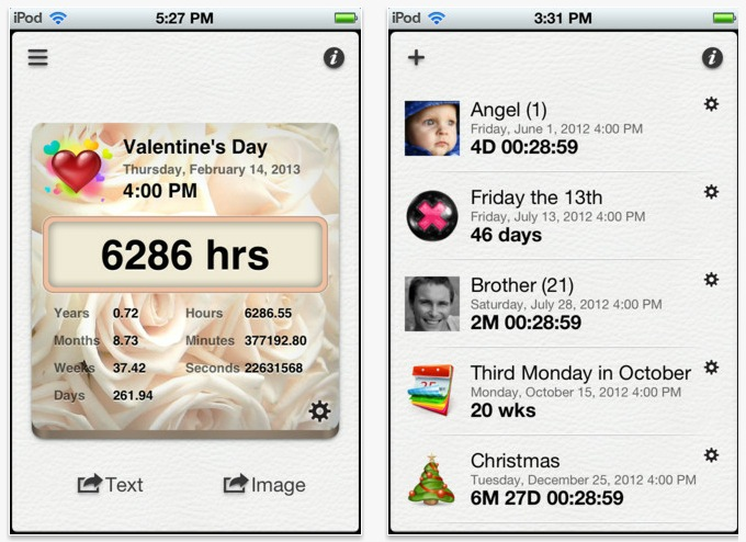 Countdown++ is a Fully Featured Countdown App for iPhone