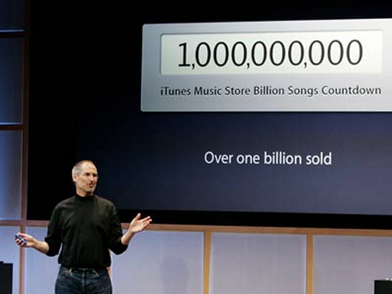 Steve Jobs Announcing 1 Billion Songs Sold