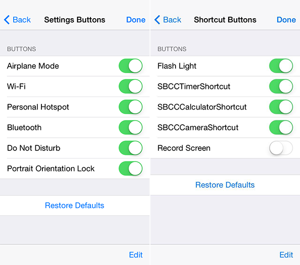 Hidden iOS 8 Settings
