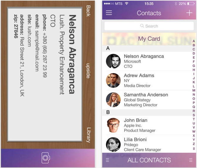 Cardnet for ios create and share virtual business cards review cardnet has a really straight forward and intuitive interface you will quickly learn the basics of cardnet and sharing details is hassle free colourmoves