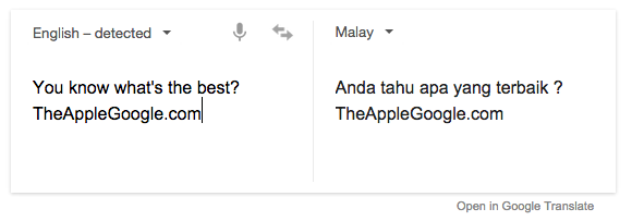 Google Translate Malay