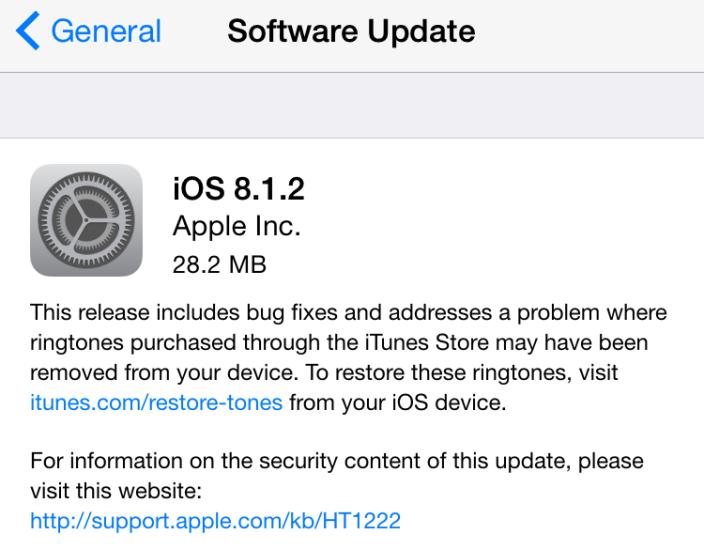 """""""iOS 8.1.2"""