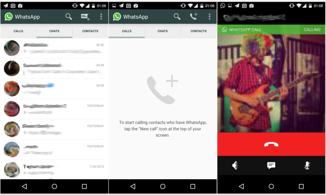 WhatsApp Voice Calling Android